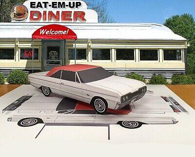 Papercraft 1966 Dodge Polara 2 door hardtop coupe EZU-make Paper Car 2 Door Hardtop Coupe