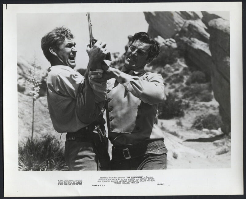 The Plunderers '48 FORREST TUCKER ROD CAMERON FIGHTING WESTERN