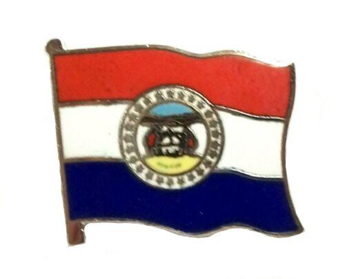 Missouri State Flag Hat Tac or Lapel Pin