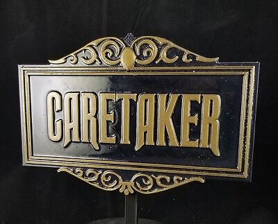 Haunted Mansion Inspired Prop Sign / Plaque Replica Caretaker Disney Home Decor
