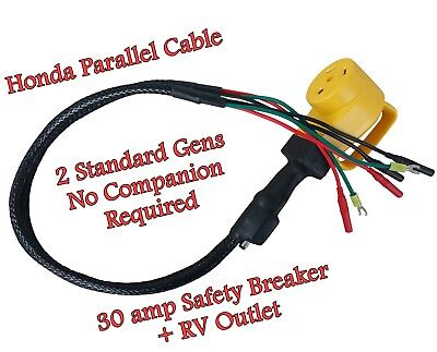 "Parallel 2 Standard Honda Eu2000i Generators - no ""Companion"" needed - Cable"