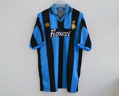 INTER MILAN 1994/1995 HOME FOOTBALL #17 PLAYER ISSUE SHIRT JERSEY UMBRO VINTAGE  image