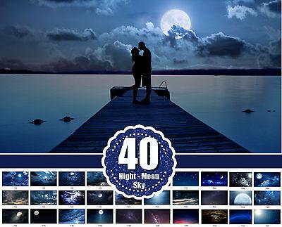 Digital photo frame 40 night moon