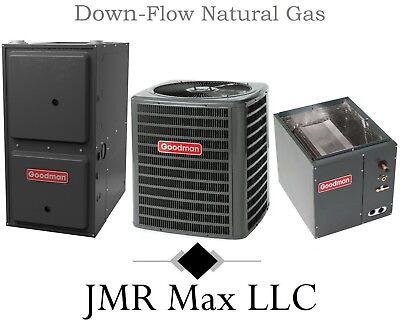 96% Down-Flow 80K btu Natural Gas Furnace + 2½ Ton 13 SEER AC Complete System #2