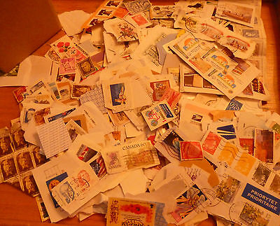 BOX  OF .WORLD KILOWARE (NO GB), MANY LARGE.  (B)