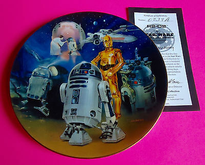 STAR WARS COLLECTOR PLATE:  Heroes and Villains  -  R2-D2