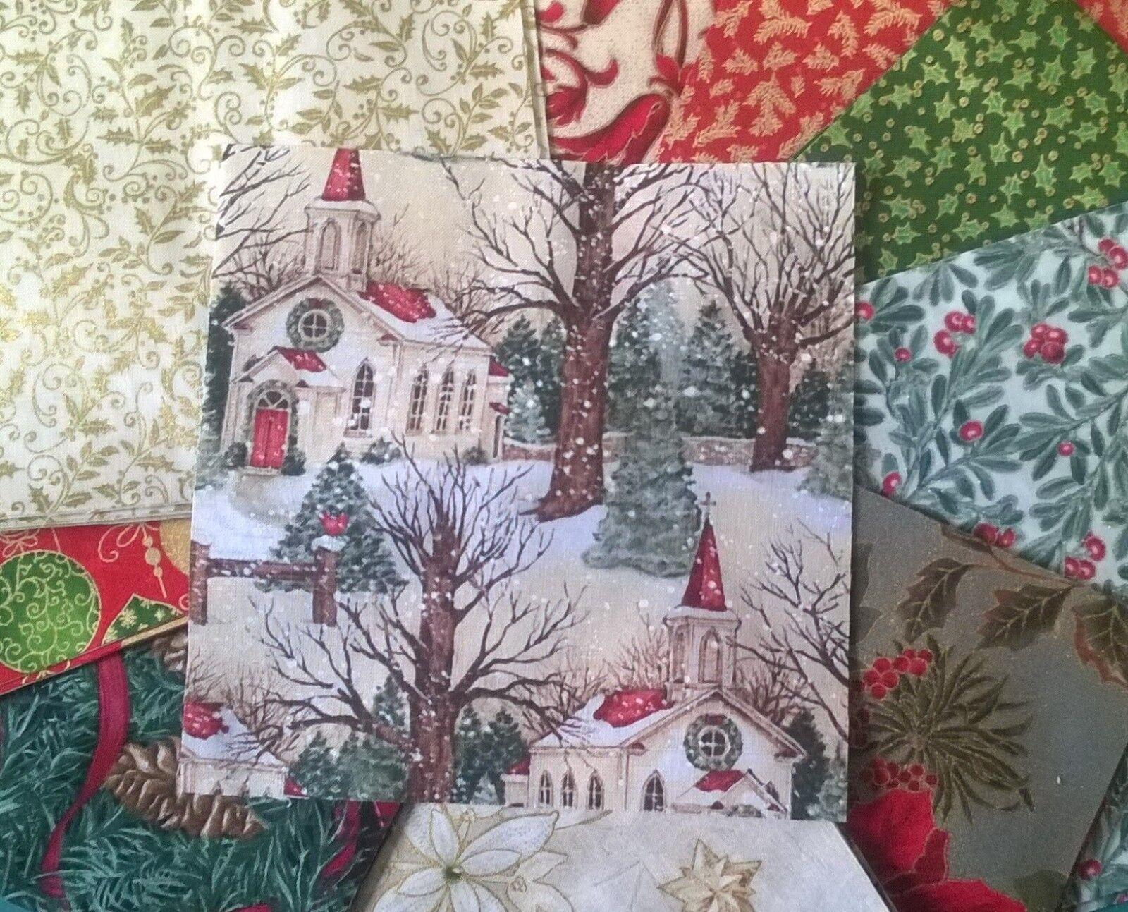 Classic Christmas Fabric Pack remnants quilting patchwork bundles 100% cotton