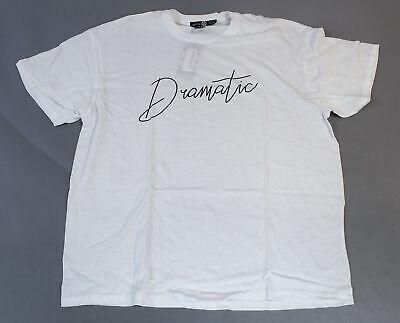 Boohoo Women's Plus Dramatic Slogan T-Shirt TM8 White Size US:16 UK:20 NWT