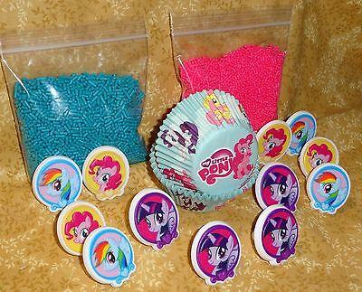 ke Kit,Rings,Sprinkles,Bake Cups,DecoPac, Craft,Multi-Color (My Little Pony Cupcake Ringe)