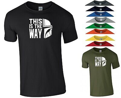 This is The Way T Shirt Star Wars Mandalorian Kick Boxing Gym UFC MMA Men Top