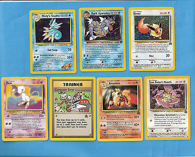 (2) Pokemon Promo cards (7-card set) - Includes (3) Holo's - All unplayed & Mint