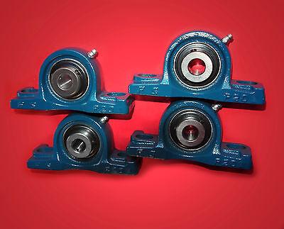 4 Gehäuselager / Stehlager / Stehlagereinheit UCP 208 / 40 mm Wellendurchmesser