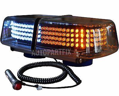 240 Led Magnet White Amber Yellow Truck Strobe Flash Light Warn Traffic Advisor