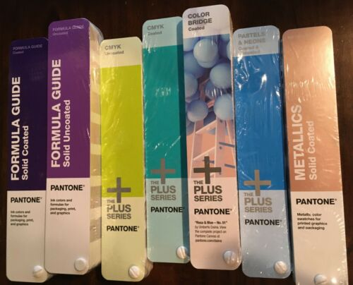 Best Pantone Swatch Books Complete Set Coated UnCoated Plus Metalic Pastel Neon