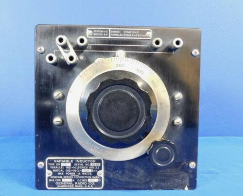 General Radio Type 107-N Variable Inductor MILLIHENRYS Series