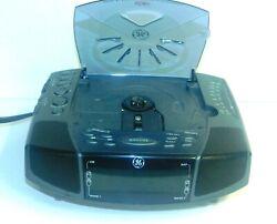 Vintage GE Dual Alarm Stereo CD Clock Radio Model 7-4897A General Electric