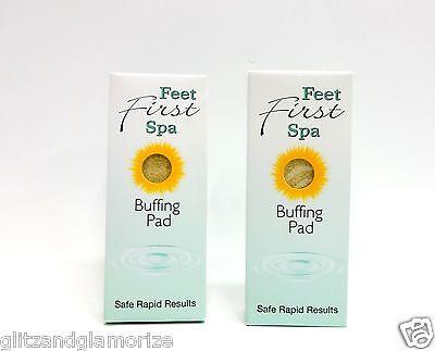 Feet First Spa Buffing Pad Pedicure Foot Bar ~2ct~ - Feet First Spa