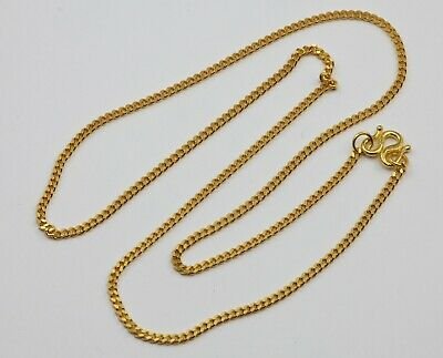 24K Solid Yellow Gold Cuban Link Chain Necklace 8.9 Grams