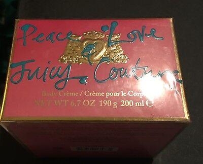 Juicy Couture Love And Peace Body Cream 6.7oz New in Box - Peace Body Cream