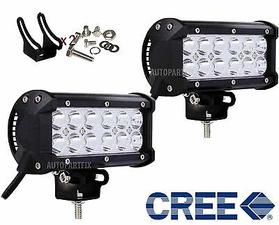 2x 7 inch 36W CREE LED LIGHT BAR WORK SPOT OFFROAD BOAT CAR TRUCK PAIR
