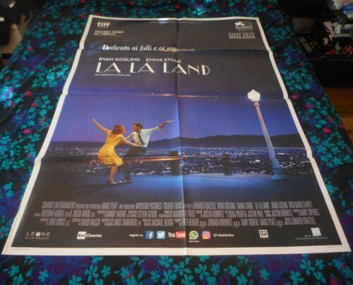 LA LA LAND - ORIGINAL ITALIAN FOLDED 1P POSTER - EMMA STONE/RYAN GOSLING