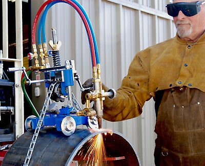 Bluerock Tools Cg-211y Manual Pipe Cutting Beveling Machine Track Torch Burner