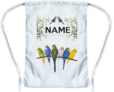 BUDGIE BAG Personalised Gym Bag for Boys or Girls Drawstring Gymsac PE Book Bag
