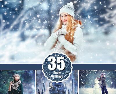 Цифровая фоторамка 35 snow Photo Overlays,
