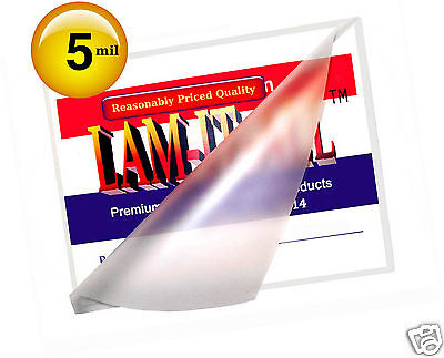 Hot 5 Mil Letter Laminating Pouches 9 X 11-12 100 Clear By Lam-it-all