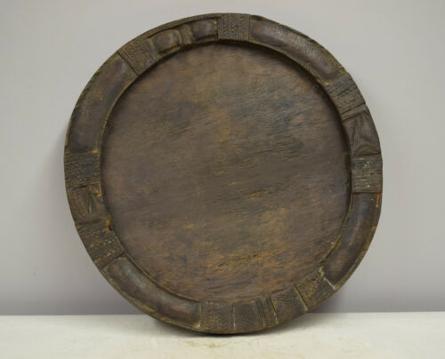 African Tray Yoruba West African Divination Patina Wood Tray