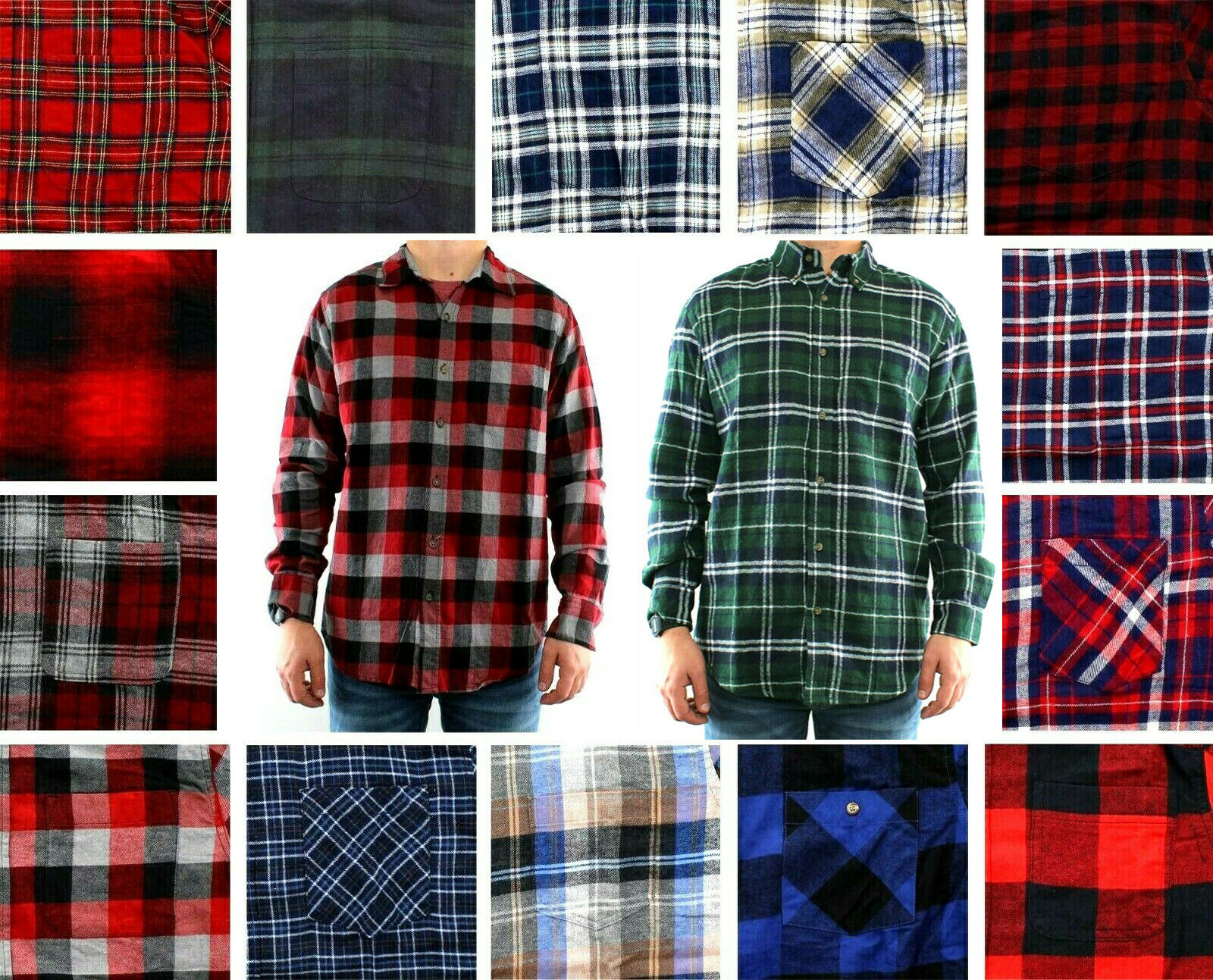 St. John's Bay Flannel Shirt Men's Plaid Long Sleeve Button