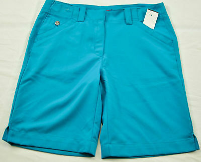 Grand Slam Belt (women's Grand Slam golf shorts size 4 turquoise polyester four pockets belt loop )