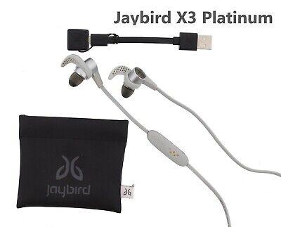 Jaybird X3 Sport Wireless Bluetooth Headphones Platinum Used Excellent!