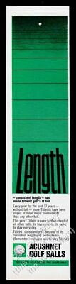 1965 Titleist golf ball balls green art Length theme vintage print ad
