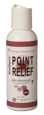 Hot Spot Lotion - HotSpot Point Relief Pain Relieving Gel 4 oz All Natural Cinnamon Scent