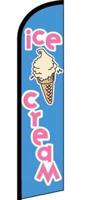 Ice Cream Vanilla Cone Logo Windless Swooper Feather Flag