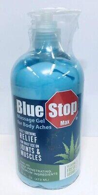 Blue Stop Max Massage Gel 16 fl oz Pump Bottle Soothing Formula 3353 (3353 Cream)