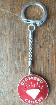 Porte-clé publicitaire Diamond Clocks Red Vintage