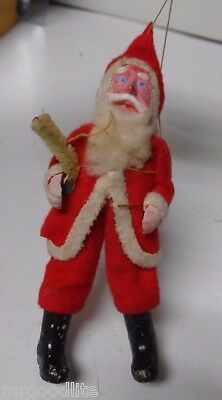 Old 1930's Santa Claus with Composition Face Hands & Boots