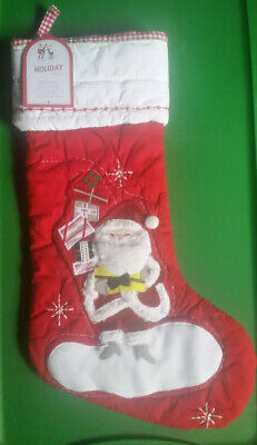 Pottery Barn Kids JOLLY SANTA WITH PRESENTS Quilted Christmas -