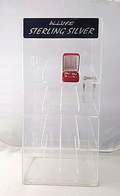Clear Acrylic Lockable Ring Case Display 4lf