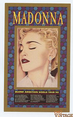 Madonna Blonde Ambition Tour 90 Postcard