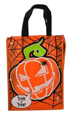 Halloween Trick or Treat pumpkin Bag 40 x30cm free uk p&p  - Halloween Goody Bags Uk