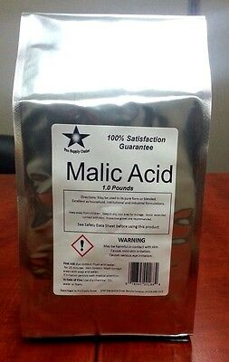 Malic Acid FCC/ USP Grade 1 Lb Pack w/ Free Shipping! 9904