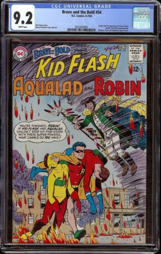 Brave and the Bold # 54 CGC 9.2 White (DC, 1964) 1st appearance Teen Titans