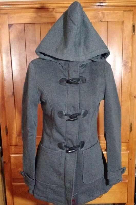Yoki Outerwear Jacket - Hooded, Basic Coat, Charcoal, Juniors Size Large L