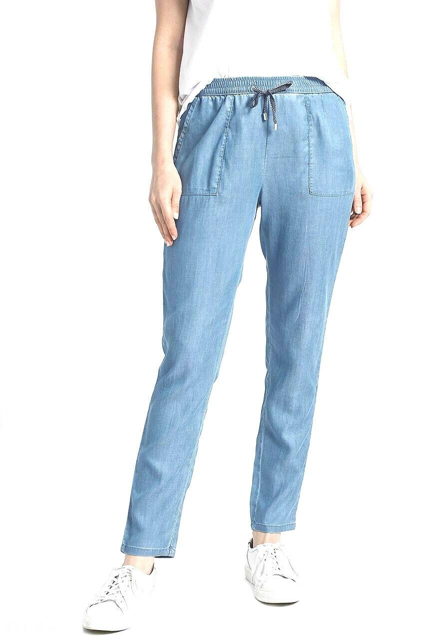 TOMMY HILFIGER Damen Chino Slim Jog Sommer Jeans Hose denim look  Gr. M L