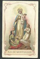 Estampa Antigua Virgen De Monteglion Andachtsbild Santino Holy Card Santini -  - ebay.es