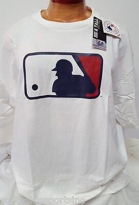 MAJESTIC AUTENTIC MLB LOGO CLUBHOUSE T SHIRT WHITE/RED NEW WITH TAGS (Mlb Clubhouse)