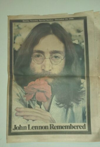Original New York News day Newspaper (INSERT) JOHN LENNON 1940-1980 COLLECTIBLE